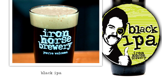 Black IPA by Iron Horse Brewery