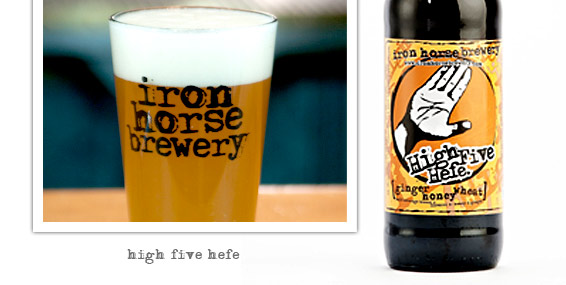 High Five Hefe by Iron Horse Brewery