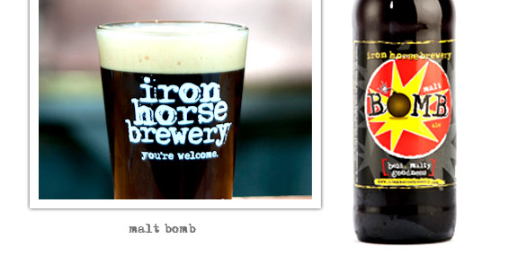 Malt Bomb by Iron Horse Brewery